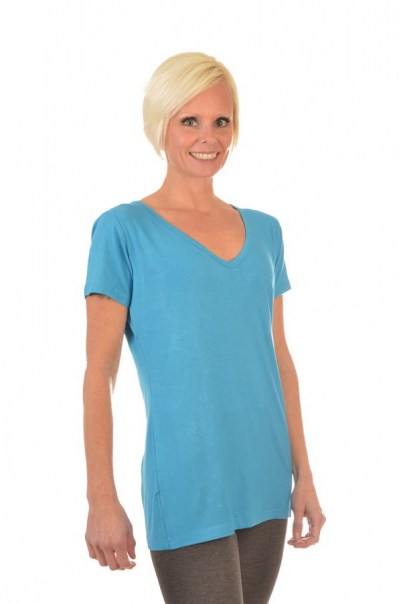 Women's Bamboo V Neck Short Sleeve Tee
