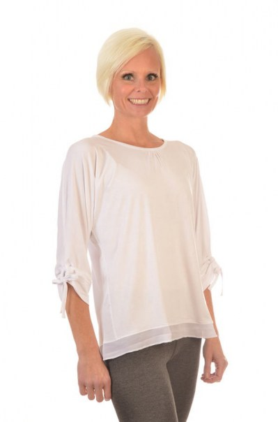 Women's Bamboo Tied Sleeve Tops