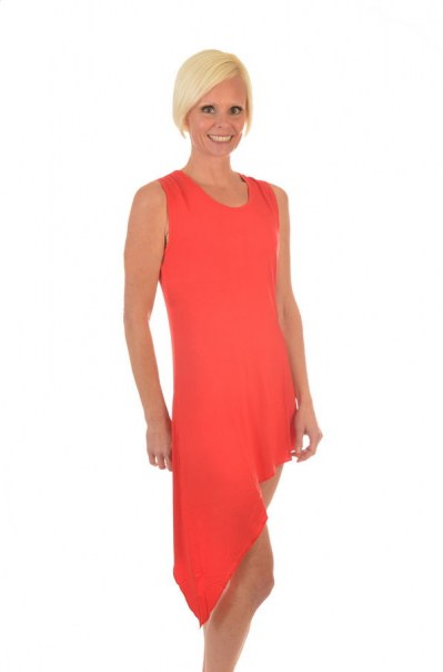 Women's Bamboo Asymmetric Dress
