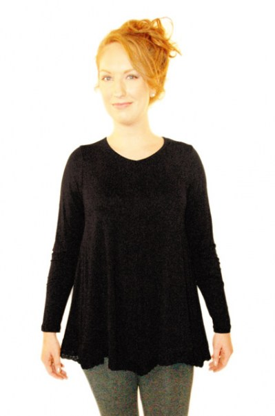 Women's All Natural Lace Bottom Tops and Eco-Friendly Clothing