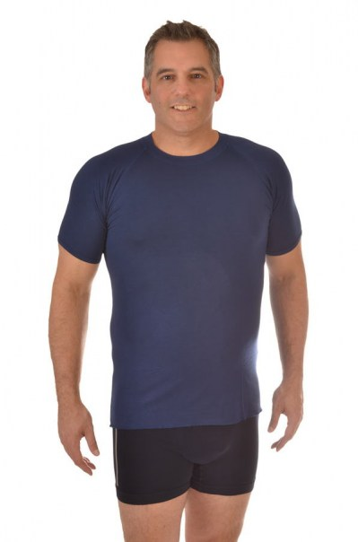 Men's Bamboo Undershirt - Navy Blue