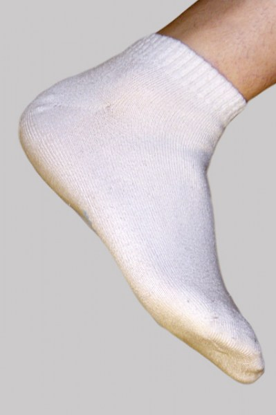 Men's Bamboo Sport Socks - White